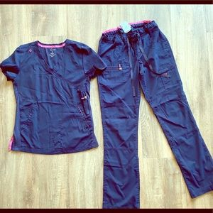 koi lite navy blue scrub set